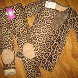В наличии туника на меху для девочки леопард