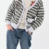 Кофточка на пуговках мальчику с аппликацией Собачки код С - 076