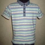 Стильная футболка поло Matalan мальчику на 3-5 лет как новая