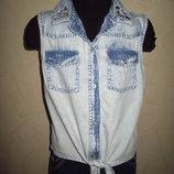 Фирменная тоненькая блуза River Island девочке на 9 лет как новая
