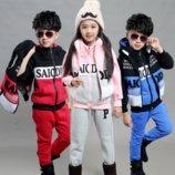 Супертёплые детские костюмы тройка в наличии