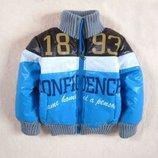 Куртка на мальчика, р.100, 110, теплая, демисезонная, еврозима