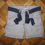 Моднячие тоненькие шорты от H&M девочке на 4-6 лет как новые