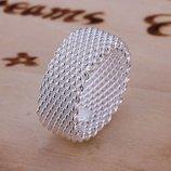 Кольцо Серебряное плетение