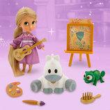 Новинка Кукла мини аниматор Рапунцель с набором игрушек.