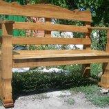 Садовые скамейки из массива дуба