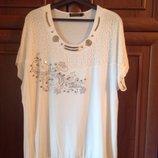Очень красивая стильная футболка 54-58 размер