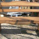 Мебель для сада, скамейки из массива дуба