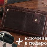 Барсетка клатч мужской кошелек портмоне 100% кожа