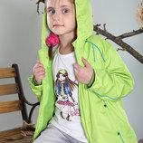 Куртка 2 в 1 с флисовой подстежкой. Разные цвета. Размеры от 98 до 158