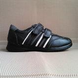 Туфли - кроссовки кожаные для мальчика р.32-37