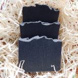 Органическое мыло от прыщей, угрей, акне с активированным углем и черной глиной