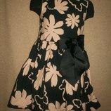 Красивое платье с бантом Некст 6л 116см.