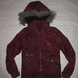 красивая бордовая термо куртка Action на 9-10 лет, лыжная, девочке