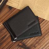 Портмоне кошелек зажим для купюр из натуральной кожи