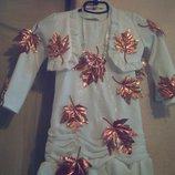 Костюм платье болеро бусы Осень можно на Праздник осени и Новый Год