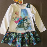Платье -туника с Эльзой 98,104