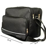 Мужская большая сумка под формат А-4 черная 2641