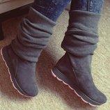 Сапожки - ботинки из натуральной кожи В наличии