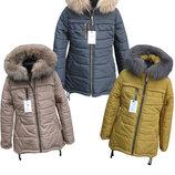 Зимняя куртка/парка для девочек/подростков, натуральная опушка, 146-164 см