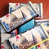 Стильный модный кошелек с принтом Нью-Йорк