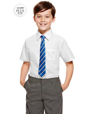 Фирменная рубашка Marks&Spencer на 7-8 лет рост 128см. с коротким рукавом.