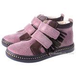 Кожаные Ботинки Mrugala 21-35 Размеры для Девочки 3 цвета