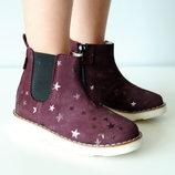 Кожаные Ботинки Mrugala 31-38 Размеры для Девочки 2 цвета