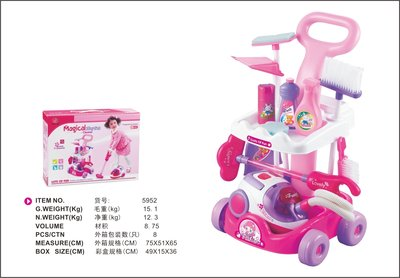 Набор Уборка -стол, с пылесосом, батар., свет, в кор. 49,5 15 3 5952