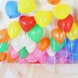 Воздушные шарики шар Сердце 16 см 6 разноцвет средние Италия повітряні кульки серце середні праздник