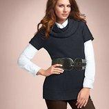 Вязаное платье-туника с поясом Тсм Tchibo р.S, L, XL