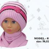 Дитячі комплекти MAGROF для дівчинки Шапка шарф