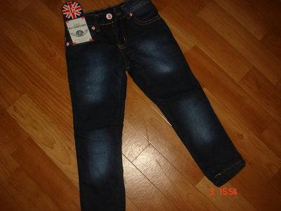 Брендовые утепленные джинсы девочкам 98