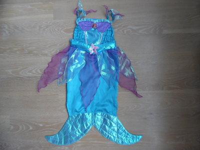 Карнавальное платье русалки 5-6 лет, рост 116 см Disney Дисней