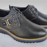 Туфли черные на мальчика на шнурках, Fashion, С6626, Тм Paliament , размеры 31, 32, 33, 34, 35, 36