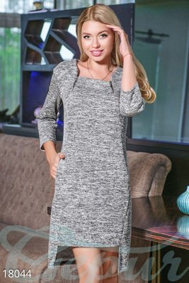 Асимметричное платье меланж