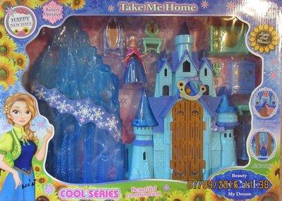 Ледяной Замок принцессы, свет, музыка