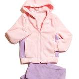 Теплый флисовый костюм как куртка для девочки от 116 до 158