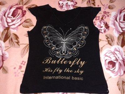 Майка бабочка черная