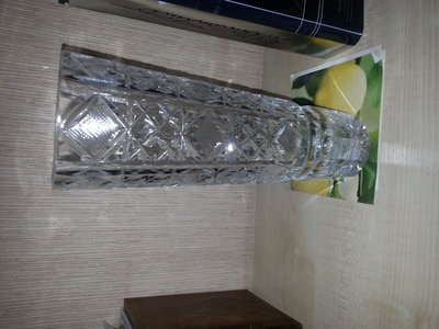 ваза хрустальная