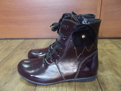 Деми ботиночки цвет баклажан Берегиня кожа 32,33