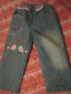 джинсы для девочки на рост 92