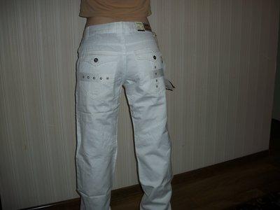 брюки джинсы мужские белые р.25,26,27.28,29,30,31,32