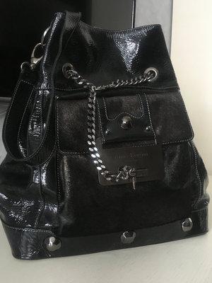 Кожаная лакированная сумка-рюкзак Anna Biogini.