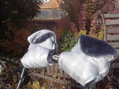 Муфта на меху универсальная двойная для колясок и санок