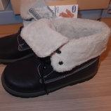 утепленные ботинки Chicco 32,33,34 размер в наличии